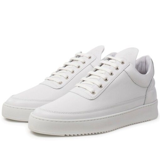 Filling Pieces Luxury Sneaker Filling Pieces low top ripple lane nappa All White