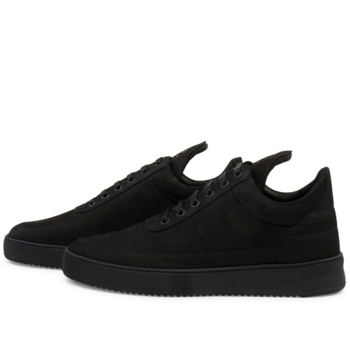 Filling Pieces Luxury Sneaker Filling Pieces low top ripple tonal Black