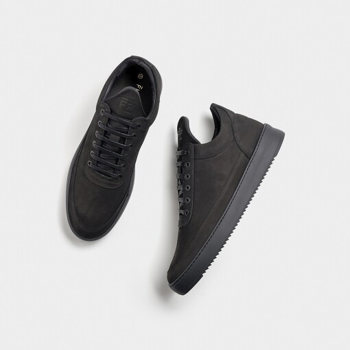 Filling Pieces  30425441861 zwart Low Top Ripple Tonal