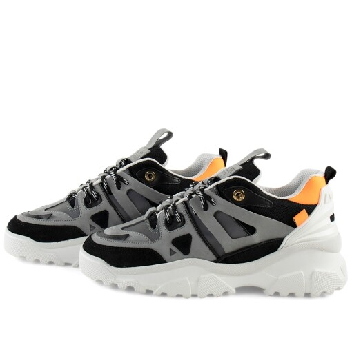 Mason Garments Luxury Sneaker Mason Garments genova ii Black/Grey/Orange