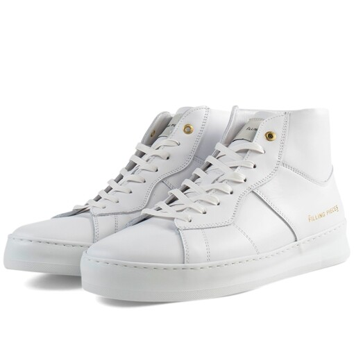 Filling Pieces Luxury Sneaker Filling Pieces mid plain court White