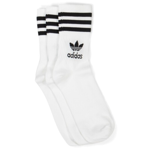 Adidas mid cut crew sock White/Black